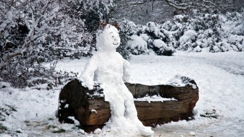 Winning picture: December - Snow Man