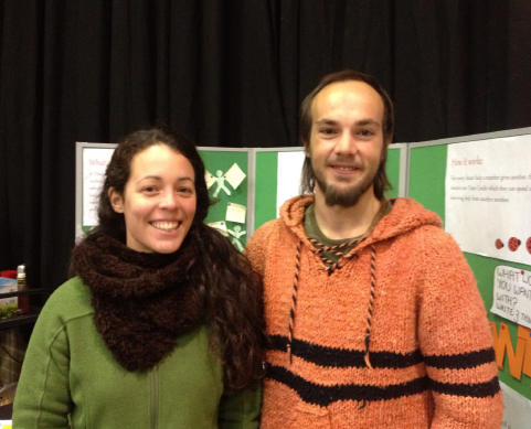 Ohiane Uranga and Daniel Santamaria at Leed's based Ladybird Time Bank Bring and Fix event